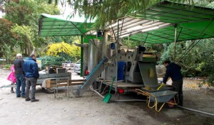 Mobilmost fik presset 2,5 tons æbler i løbet af lørdagen.