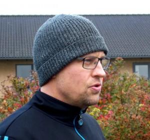 Steen Ove bød velkommen til æblelunden i Flemløse.