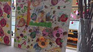 Imponerende flotte æble-billeder med glade grise havde børneinstitutionerne lavet .