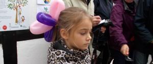 En yndig ballon til håret kunne man også få lavet.